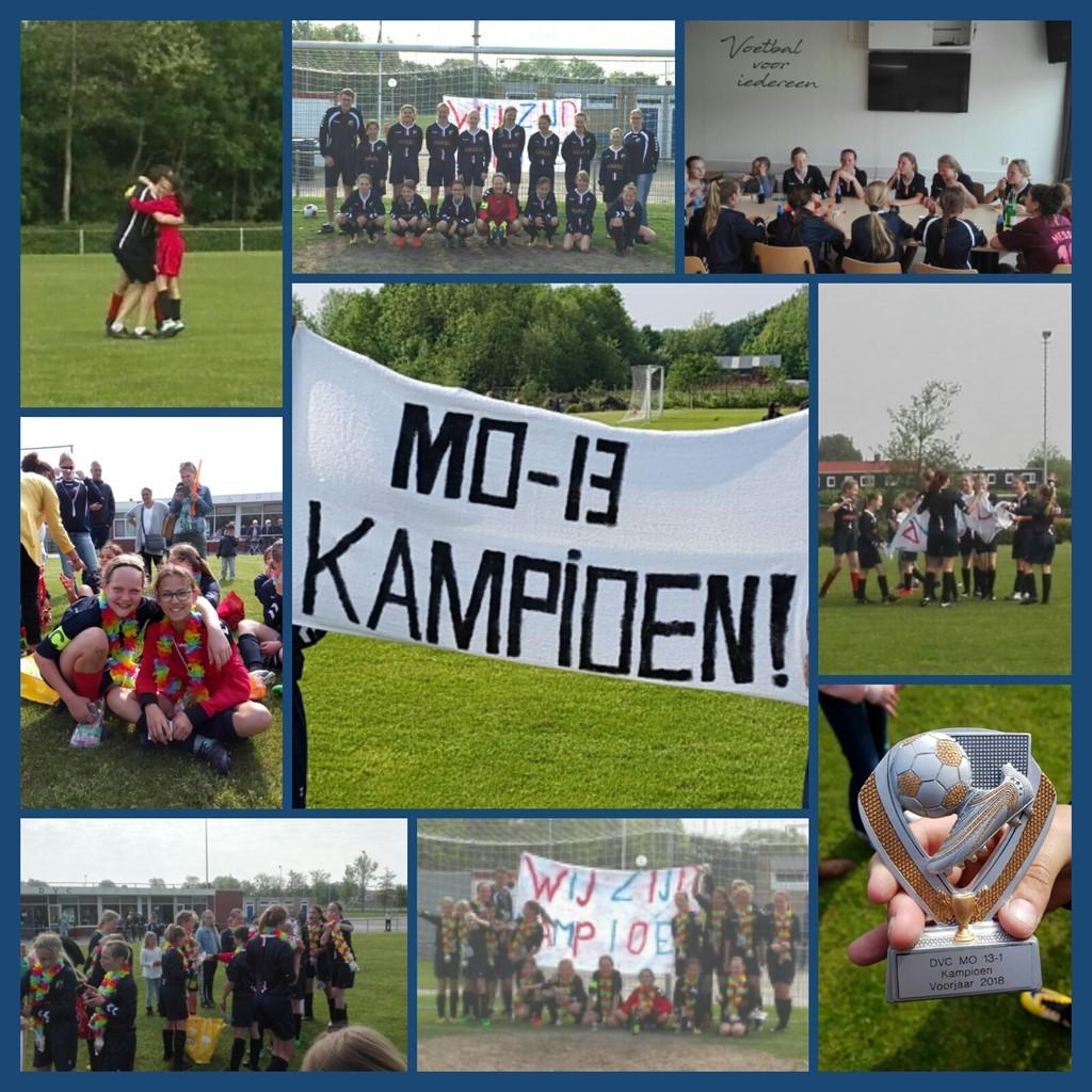 DVC Appingedam MO13 ongeslagen KAMPIOEN!